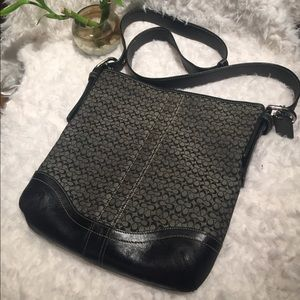 Coach cross body bag. Black
